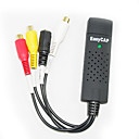 vídeo easycap + adaptador de audio
