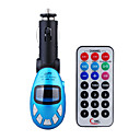 azul cor do carro mp3 player com transmissor de FM