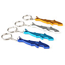 Shark Shaped Bottle Opener Keychain (Random Color)