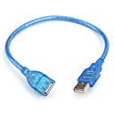 Καλώδιο USB 2.0 A αρσενικό θηλυκό καλώδιο προέκτασης (μπλε) 0,3 m
