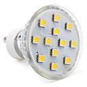 Buy GU10 / GU5.3(MR16) E26/E27 LED Spotlight MR16 12 SMD 5050 150 lm Warm White AC 220-240 V