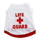 Red Cross Cotton T-Shirt Vest for Dogs (XS-M)