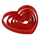 fondant cake diy decorazione rossa a forma di cuore taglierina stampo biscotto (6-pack)