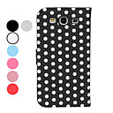 Dot Pattern PU Leather Case with Stand for Samsung Galaxy S3 I9300 (Assorted Colors)