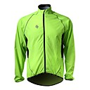 Tops / Chaqueta / Paravientos / Impermeable (Verde) - de Carreras / Ciclismo -Impermeable / Cremallera delantera / Listo para vestir /