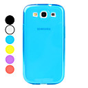 Estilo simple TPU suave para Samsung I9300 Galaxy S3 (colores surtidos)