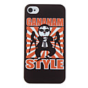Funny Gangnam stil Psy Mønster Hard Case for iPhone 4