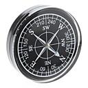 Plastic Portable Compass noire au placage