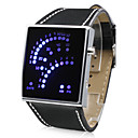Unisex 29 Blue LED Display Digital Wrist Watch (Black)
