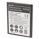 Batterie au lithium rechargeable Remplacer Samsung Galaxy i9300 SIII (3.7v, 2300 mAh)