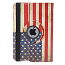Drehbarer Design Retro US-Flagge Pattern PU Leather Case mit Ständer für iPad Mini
