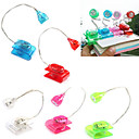 Creative Mini Desk Lamp lukemisen LED Clip (Random Color)