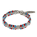 Multicolor Beads Flower National Wind Bracelet