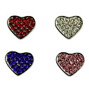 Heart Shape Stylish Decoration Charm for DIY Collar (Assorted Color)
