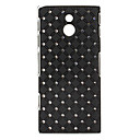 Starry Sky Pattern Hard Case with Rhinestone for Sony LT22i