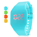 vrouwen horloge mode touchscreen rode led digitale candy kleur