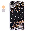 Vintage Flower Wzór akrylowa Zircon Hard Case dla iPhone 4/4S (kolory Assorted)