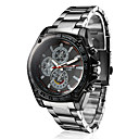 Men's Racing Style Black Alloy Quartz Wrist Watch Cool Watch Unique Watch