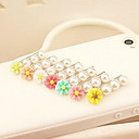 3.5mm Lovely Daisy Pattern Pearl Anti-dust Plug for USB (Random Colors)