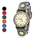 Women's Casual Style Wrist Analog Leather Quartz Watch (Assorted Colors)