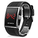 Buy Men's Watch Red LED Calendar Silicone Strap Sport Wrist Cool Unique Fashion
