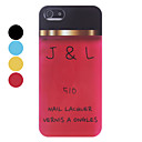 Simple Design J & L Pattern Hard Case for iPhone 5/5S (Assorted Colors)