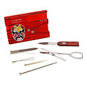 Multifunctionele Outdoor Card Tool (Rood)