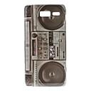 Retro Style Radio Pattern Hard Case Moto Razr I XT890