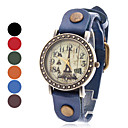 Women's Eiffel Tower Style Analog Leather Quartz Wrist Watch (Assorted Colors)