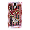 Rhinestone Decorated Heart and Bowknot Pattern Hard Case for Samsung Galaxy S4 I9500