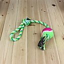Durable Rough Rope with Three Knots and Ball Chewing Toy for Dogs  (Random Color)