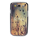 Be Free Pattern Hard Case para Samsung Galaxy S3 I9300