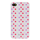 Devia Ytimekäs punainen ja violetti Round Dots Pattern sileää pintaa PC Hard Case for iPhone 4/4S