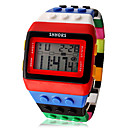 Women's Watch Sports Digital Rainbow Block Brick Style