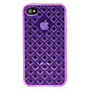 Abweichungen Solid Color 3D Diamant-Muster TPU Soft Case für iPhone 4/4S (Optional Farben)