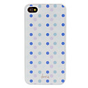 Devia Ytimekäs Purple ja Blue Round Dots Pattern sileää pintaa PC Hard Case for iPhone 4/4S