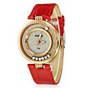 Buy Women's Moveable Diamante Round Dial PU Band Quartz Analog Wrist Watch (Assorted Colors) Cool Watches Unique