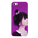 Purple Beautiful Girl Pattern TPU Soft GEL Case for iPhone 5/5S