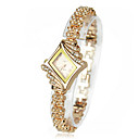 Fashion Women Alloy Crystal Quartz Rhombus Bracelet Bangle Wrist Watch New