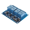 Buy DC 5V 4-Channel Relay Module Optocoupler Arduino PIC ARM AVR DSP