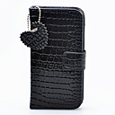 Joyland Black Loving Heart Pendant Leather Case for iPhone 5
