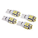4 st T10 W5W 194 158 168 501 20x3528SMD 60-80lm 6000-6500K Cool White Inverted Side Wedge Light (12V)