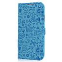 azul melodia série aleta folio estojo de couro pu corpo inteiro para samsung galaxy s4/i9500