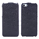 Ostrich Pattern Ling Xu Series Leather Case for iPhone 5S
