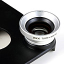 0.67X Wide Angle and Macro Lens and Back Case for iPhone 4/4S (Silver)