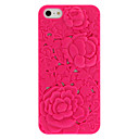 Novetly Design Solid Color Rose-Carved Hard Case for iPhone 5/5S (assorterede farver)