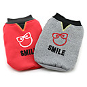 Stylish Smiling Face Cotton Padded Warm Coats for Pets Dogs (Assorted Colors, Sizes)