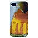 Beer Bubble Glossy Hard Plastic Phone Case for iPhone 4/4S