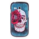 Red Rose Skull Mønster hardt tilbake tilfelle dekke for Samsung Galaxy S3 Mini I8190