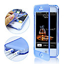 Touch Screen TPU Transparent Full Body Case för iPhone 4/4S (Assorted Color)